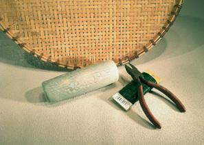 Materials used for ikebana relief arrangement