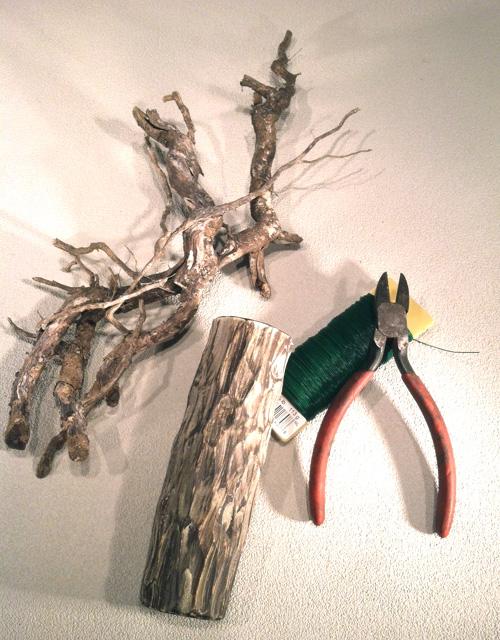 Ikebana relief arrangement materials